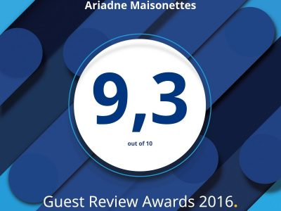 ariadne, award, guest, review, booking